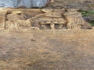 """Yağmur """"roma mezar"""" taşlarını ortaya çıkardı"""