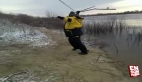 Balık tutamayan Rus adam