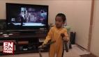 Çin'de küçük Bruce Lee'nin nunçaku gösterisi