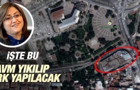Gaziantep'te AVM binası yıkılırak parka dönüştürülecek