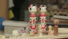 Japon bebekleri Kokeshi'nin yapılışı
