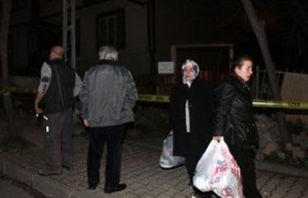 Kağıthane'de heyelan iki apartman boşaltıldı