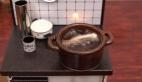 Mini mutfak aletleriyle karides pişirmek