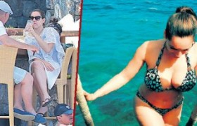 Kelly Brook Bodrum'da tatilde
